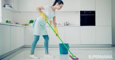 تنظيف أرضية المطبخ من الدهون