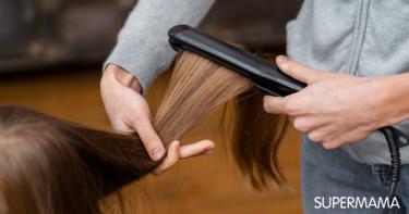 أضرار تمليس الشعر للأطفال بالمكواة