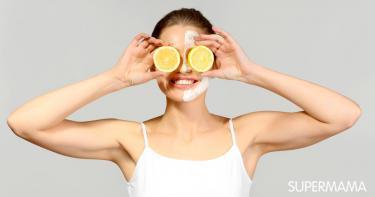 فوائد ماسك اللبن البودرة والليمون للبشرة