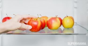 طريقة تخزين التفاح فى الفريزر