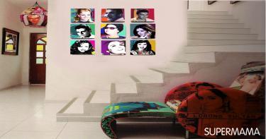 ٣-لمسة من الألوان على الحوائط البيضاء