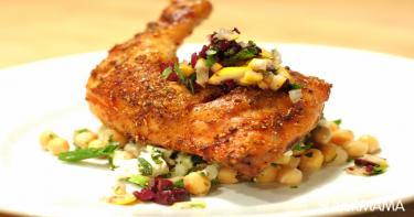 الطبق الأول: أوراك دجاج بالتوابل المغربية