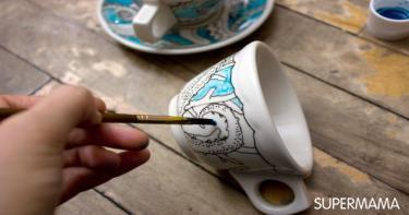 ٣- مجموعة تلوين أكواب الشاي