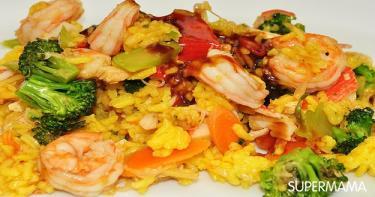 الأرز المقلي بالجمبري