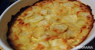بطاطس جراتين مع البصل بالكراميل