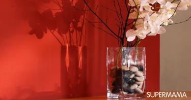 المزهريات الزجاج الفارغة