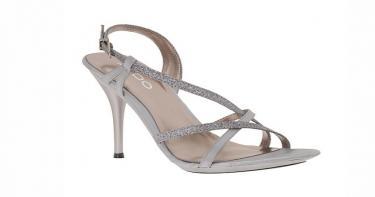 أحذية المساء ذات المظهر المعدني