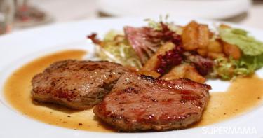 وصفة ستيك اللحم باالثوم وصوص البرتقال