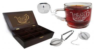 صندوق أكياس الشاي ومستلزماته