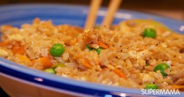 ارز بالبيض والخضروات