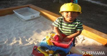 اللعب في الرمال