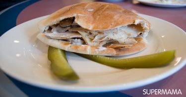 ساندوتش شاورمة الدجاج