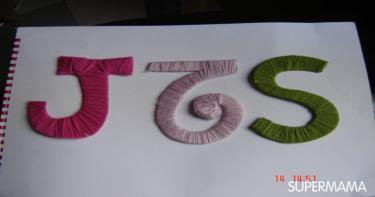 حروف من الكرتون والصوف لتزيين غرف الأطفال