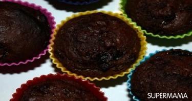 وصفة مافن البرقوق والشوكولاتة