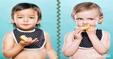 اطفال يتذوقون الليمون 3