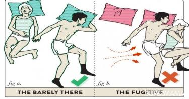 أوضاع النوم بين الزوجين2