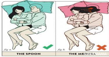 أوضاع النوم بين الزوجين4