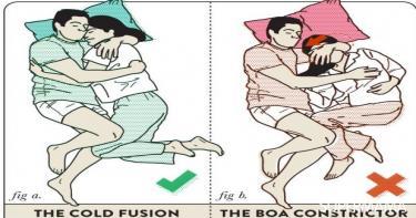 أوضاع النوم بين الزوجين5