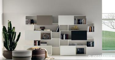 7 تصميمات للمكتبات في المنزل 7
