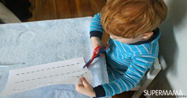 أفكار لتعليم الصغار القص والتلوين 6