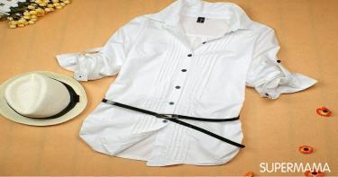 موضة القميص الطويل السادة 2