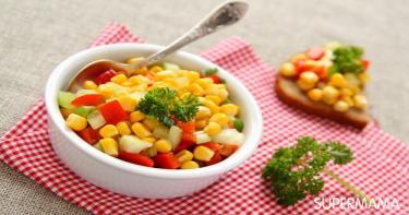 وصفات شهية لطبخ الذرة 5 سلطة الذرة