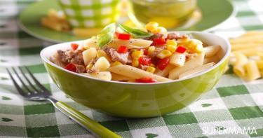 وصفات شهية لطبخ الذرة 6 مكرونة بالذرة والتونة
