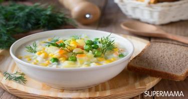وصفات شهية لطبخ الذرة 7 شوربة الذرة بالدجاج