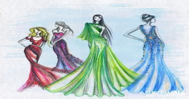 بالصور فستان حسب شكل الجسم 1