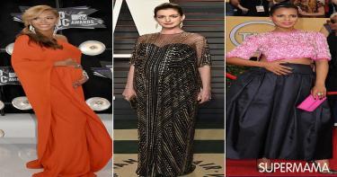 ملابس نجمات عالميات في الحمل 9