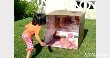 أنشطة للأطفال بكراتين المياه الفارغة