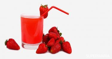 عصير الفراولة
