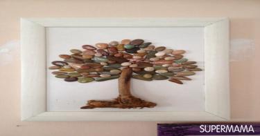 أعمال فنية بأحجار الشواطئ