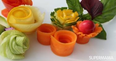 أفكار تقطيع الخضروات 4