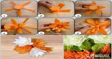 أفكار تقطيع الخضروات 6