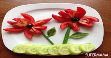 أفكار تقطيع الخضروات 12