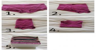 طي الملابس الداخلية