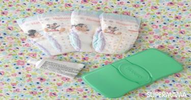 مستلزمات حقيبة الرضع في الشتاء - حفاضات ومناديل مبللة