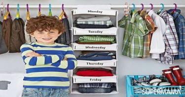 أفكار مبتكرة لتنظيم دولاب طفلك 2