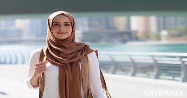 ربطات حجاب تناسب الوجه المربع