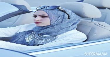 ربطات حجاب تناسب الوجه المربع 1