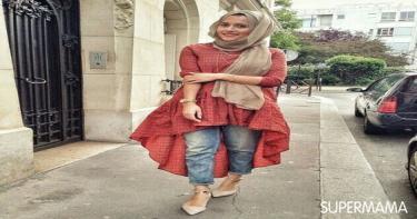 ربطات حجاب تناسب الوجه المربع 3