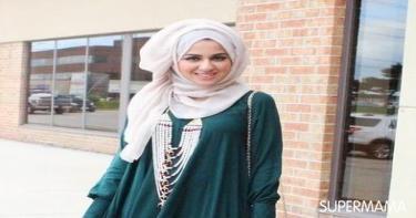 ربطات حجاب تناسب الوجه المربع 4
