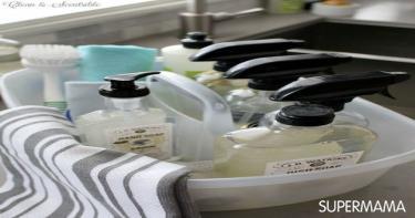 أفكار لتنظيم أدوات النظافة 5