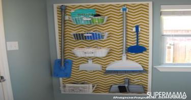 أفكار لتنظيم أدوات النظافة 7