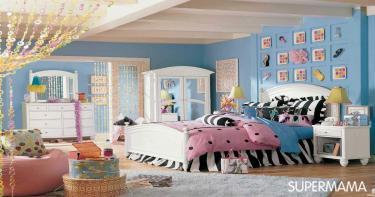 الغرفة ذات الديكور الأزرق الأنيق