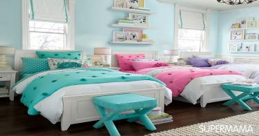 غرفة لفتاتين صغيرتين