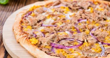 طريقة عمل بيتزا التونة