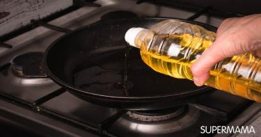 طبخ صحي - تسخين الزيت حتى الاحتراق