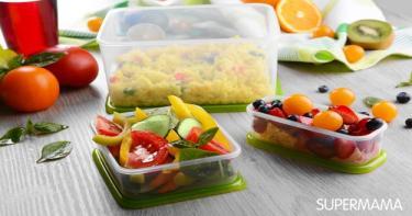 طبخ صحي - وضع الطعام الساخن في الأوعية البلاستيكية